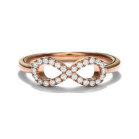 Lino and sons - Cincin Berlian F VVS ( Infinte Diamond Ring )
