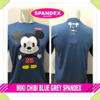 Kaos Baju distro murah Anime - MIKI CHIBI BLUE GREY SPANDEX