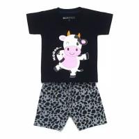 Setelan Baju Anak Laki-laki 1-7 Tahun (Baju Kaos Anak Motif Sapi)