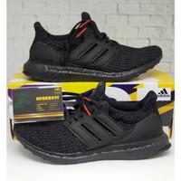 Adidas Ultraboost 4.0 Triple Black Red BNIB 100% ORIGINAL ANTI FAKE !!