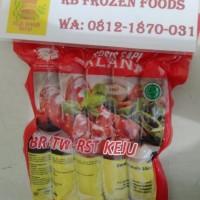 Sosis Sapi Mini Alana Bratwurst Keju 500 gram