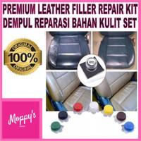 Premium Leather filler repair kit dempul reparasi bahan kulit set