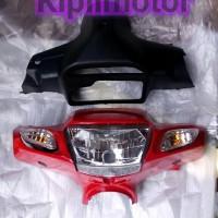 Batok Lampu komplit Vega r lama warna merah