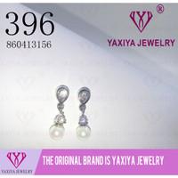 Anting Tusuk Permata Emas putih Perhiasan imitasi Yaxiya Jewelry 396
