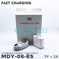 CHARGER XIAOMI + USB TYPE C FAST CHARGING 5V 2A MDY-08-ES KD-003255