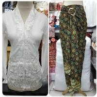 kebaya modern plus rok lilit