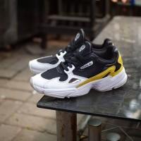 Adidas Falcon Women White Yellow Black