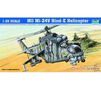 pesawat Mi-24V Hind-E Helicopter 1/35 model kit trumpeter