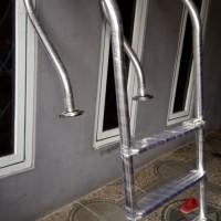 Tangga kolam renang lokal pool ladder SUS304 with flange jambi
