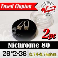 Fused Clapton NI90 Core NI80 26*2+36 |0.10-0.13ohm -isi 2 pcs