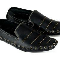 Sepatu Loafers Kasual Pria Kulit Ori JAR 174 Jk Collection