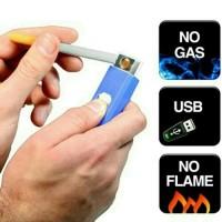 Korek Api Elektrik USB Cigarette Lighter Rechargeable Rokok
