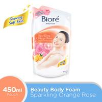Biore Body Foam Sparkling Orange Rose 450 mL Pouch