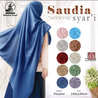 Jilbab Segi Empat Saudia Syari By UMAMA