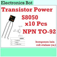 [EBS] Amplifier Transistor Power S8050 NPN TO-92 10 pcs 3 Pin Radio