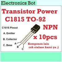 [EBS] Amplifier Transistor Power C1815 NPN TO-92 10 pcs 3 Pin Radio