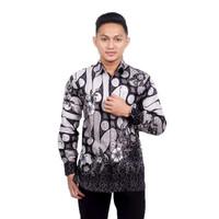 Kemeja Batik Pria Parang Seno Abu Lengan Panjang Baju Batik Kantor