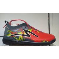 Sepatu futsal specs cyanide tnt red black