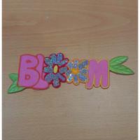 0291 Iron Patch Emblem Bordir Motek BLOOM Uk. T : 5cm L : 18cm
