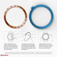 Durable For Samsung Gear S3frontier Bezel Ring Adhesive Cover Anti Scr