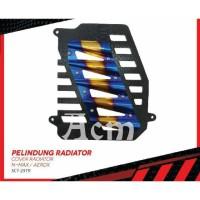 Cover tutup radiator two tone SCARLET YAMAHA NMAX AEROX LEXI