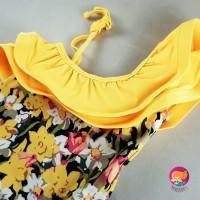 Baju Renang Anak Bayi Bikini Anak Tankini Floral Yellow Sabrina Best