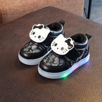 Sepatu Led Anak Perempuan Kualitas Import Bahan Tebal dan Ringan Hitam