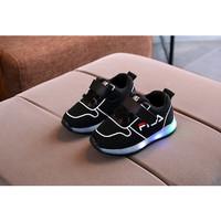 Sepatu Anak Led Laki Perempuan Kualitas Import Model Fashionable Hitam