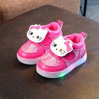 Sepatu Led Anak Perempuan Kualitas Import Bahan Tebal dan Ringan Pink