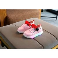 Sepatu Anak Lampu Led Kualitas Import trendi dan Fashionable Wrna Pink