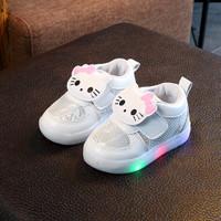 Sepatu Led Anak Perempuan Kualitas Import Bahan Tebal dan Ringan Putih