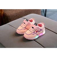 Sepatu Anak Led Perempuan Kualitas Import Model Fashionable Warna Pink