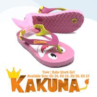 Sandal Kakuna Tipe Baby Shark Girl anak Perempuan umur 2-5 Tahun