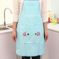 HOT SALE Apron Celemek Plastik Korean Apron lucu, dengan bahan anti