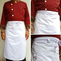 HOT SALE Apron Kitchen Chef Profesional - Putih Terjarmin