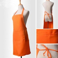HOT SALE Celemek masak / Apron Cotton Full Orange - Harga Murah Mutu