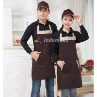 HOT SALE Apron Celemek Apron Full Body Barista Coklat Hitam Waitress