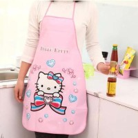 HOT SALE Celemek Karakter Lucu Motif Tahan Air Minyak Hello Kitty