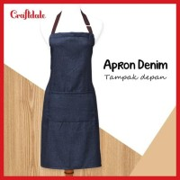 HOT SALE Apron/celemek Denim Terjarmin