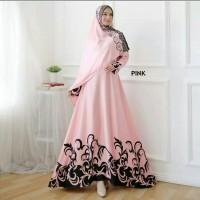 Busana Muslim Wanita Maxi Dress SABIAN Setelan Gamis Syari Terbaru