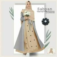 Busana Muslim Wanita Long Dress SABYAN Setelan Gamis Syari Terbaru