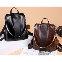 tas ransel wanita Backpack punggung import Sekolah Kuliah Kerja 100