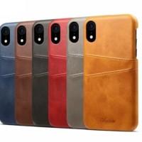 iPhone XS 5.8 INCH Leather Hard Case Retro Wallet Kesing Kulit