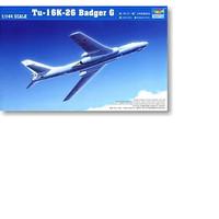 pesawat Tu-16k-26 Badger G Type 1/144 Model Kit trumpeter