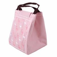 Lunch Bag/ Cooler Bas/Tas Bekal Motif Tote Flamingo Tahan Panas Dingin