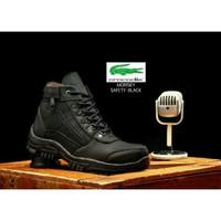 sepatu pria crocodile morisey hitam safety boots tracking ujung besi