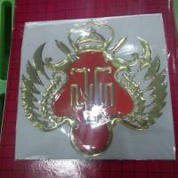 Sticker HOBO 3D Lambang Kraton Yogyakarta 13 cm x 13 cm