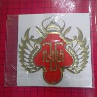 Sticker HOBO 3D Lambang Kraton Yogyakarta 11 cm x 11 cm