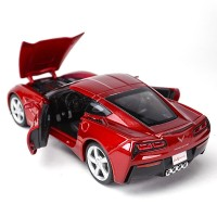 Maisto 1:24 2014 Chevrolet Corvette Coupe C7 red Miniatur Diecast