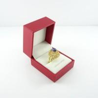 Kotak Cincin Persegi motif kulit / Tempat perhiasan cincin / Box